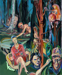 Cambing, 2014, Acryl und Lack auf Leinwand, 110 x 90 cm