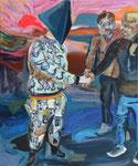 Faschong, 2015, Acryl und Ölkreide auf Leinwand, 60x50 cm