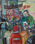 Reifheit, 2015, Acryl/Lack/Ölkreide auf Leinwand, 100x80 cm