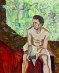 Mensana Corps, 2014, Acryl, Öl auf Leinwand, 110 x 90 cm