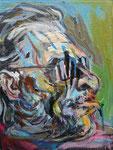 Bukowski, 2014, Acryl und Ölkreide auf Leinwand, 24x18 cm