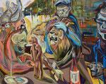 Stammtusch, 2014, Acryl auf Leinwand, 80 x 100 cm