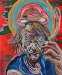M.H., 2015, Acryl und Ölkreide auf Leinwand, 60 x 50 cm