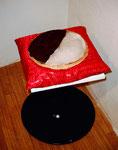 Amerikaner, Salzteig mit Schokolade auf Kissen, ca. 29 cm, 2002