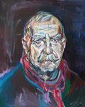 Aras Ören - Schriftsteller, 2014, Acryl auf Leinwand, 50x40 cm