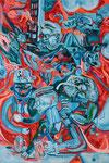 Fure&Firy, 2018, Acryl und Lack auf Leinwand, 150 x 100 cm