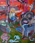 Coolgate, 2015,  Acryl/Lack/Ölkreide auf Leinwand, 110x90 cm