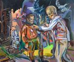 Kumpless, 2015, Acryl und Ölkreide auf Leinwand, 50x60 cm