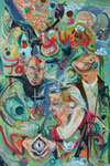Distroui, 2018, Acryl und Lack auf Leinwand, 150 x 100 cm