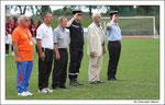 Minute de silence avant le match de la finale en hommage aux soldats du feu qui ont perdu la vie lors de leurs fonctions