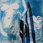 """Trasparenti seduzioni"", 2010. Collage calcografico 40x40cm"