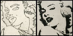 Who is Marilyn? Collage calcografico sequenza 2 cm 20x40