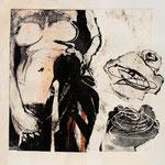 """""""Se Ducere"""", 2010. Collage calcografico 50x50cm"""