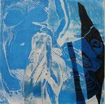 """Trasparenti seduzioni 2 "", 2010. Collage calcografico 40x40cm"
