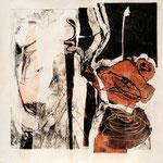 """""""Se Ducere 2"""", 2010. Collage calcografico 50x50cm"""