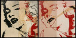 Who is Marilyn? Collage calcografico sequenza 1 cm 20x40