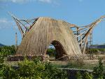 Bambushaus des Nachbarn in Benidoleig