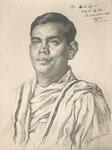 Swani Siddheswa Ramanda 1940 fusain André Aaron Bilis
