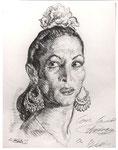 Carmen Amaya 1959 fusain André Aaron Bilis
