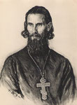 Pope russe  1941 fusain André Aaron Bilis