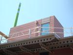 Treppenhaus und Abluftkamin