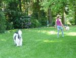 Lotta und Mia sind zu Besuch.