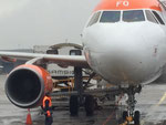 Arrivée dans l'avion avec une nacelle