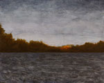 "Eve Ashcraft, Long Pond, 2013, acrylic on birch panel 10"" x 8"""