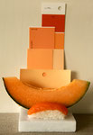 Salmon/Melon palette. Photograph © Eve Ashcraft