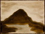 """Eve Ashcraft, A Mountain, 2013, acrylic and pastel on paper  8"""" x 6"""""""