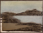 """Eve Ashcraft, Cove, 2013,  acrylic, pastel and charcoal on paper  8"""" x 6"""""""