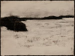 """Eve Ashcraft, Snow, 2013, acrylic and charcoal on paper  8"""" x 6"""""""