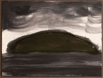 "Eve Ashcraft, Mound, 2013, ink, pastel and gouache on paper  8"" x 6"""