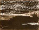 "Eve Ashcraft, Dark Land, 2013, gouache, ink and chalk on paper  8"" x 6"""