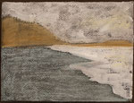 """Eve Ashcraft, Edge, 2014,  acrylic and pastel on paper  8"""" x 6"""""""