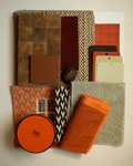 Orange, Brown, Neutral inspiration palette. Photograph © Eve Ashcraft