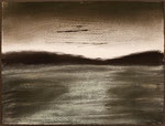 "Eve Ashcraft, Dark Shore, 2014,  ink and pastel on paper  8"" x 6"",  NFS private collection."