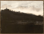 """Eve Ashcraft, Winter, 2013, gouache and charcoal on paper  8"""" x 6"""""""