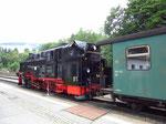 Ankunft am Ziel in Oberwiesenthal