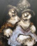 """"""" Les chiens de faïence"""" - 162 x 130 cm"""