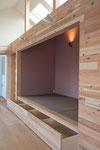 畳コーナー-1 畳の下は引出式の収納