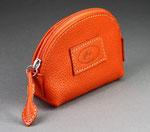 """Porte monnaie cuir """"Ourielle"""" orange naranja"""