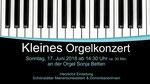 Orgelmusik in Weesen, Klosterkirche Maria Zuflucht
