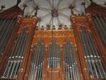 Voit-Orgel (1868) Alexanderkirche Marbach/ Neckar (DE), Ausschnitt des Orgelprospektes