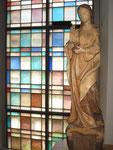 Heilige Cäcilia, Schnitzerei von Josef Pfiffner (†), Quarten