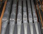 Ziselierungen der Prospektpfeifen, Abbrederis-Orgel Maienfeld