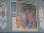 Bitzfeld (DE), König David, Detail der Emporenbemalung