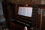 Spieltisch der grossen Gottfried- Silbermann- Orgel im Dom zu Freiberg/ Sachsen (DE)