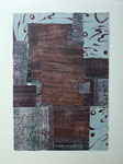 Cantate (2), lithographie-collage, 56 x 76 cm