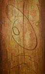 Le Bruit de l'O, acrylique/toile, 73x116cm